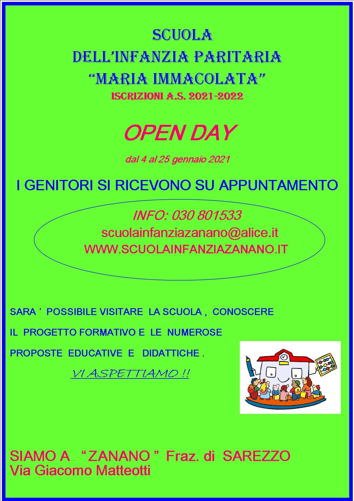 volantino open day 2021xx